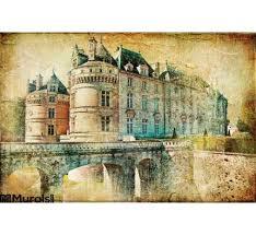 le lude castle wall mural