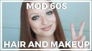 mod 60s hair and makeup look