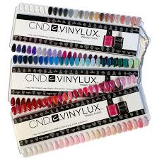 Cnd Vinylux Salon Nail Tip Color Chart Palette 139