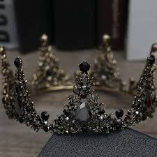 <b>Vintage</b> / <b>Retro Baroque</b> Black Bridal Jewelry <b>2019</b> Metal Tiara ...