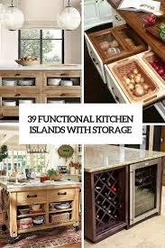 Kitchen Island Storage 39 Kitchen Island Ideas With Storage Digsdigs