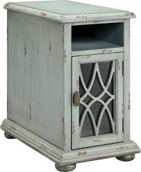 chair side table. bethania chairside table, distressed pale blue-gray finish farmhouse-side- tables- chair side table n