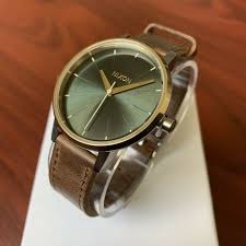 nixon kensington leather silver gold agave women s watch 37mm