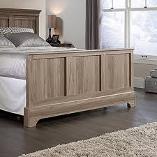 Sauder Bedroom Furniture Sauder Barrister Lane Salt Oak Queen Footboard 419372 The Home Depot