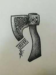 славянские и скандинавские татуировки эскизы вконтакте оружие