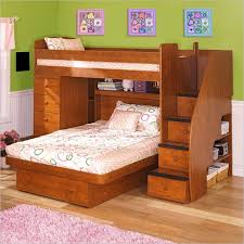 twin over full wood bunk bed idea