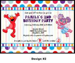 Abby Cadabby Party Decorations Elmo Invitation Elmo And Abby Cadabby Invitation Abby