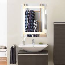 Bathroom Light Dimmer Dimmable Rectangle Lighted Wall Mirror Lights Dimmer