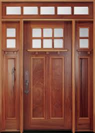 Decorating wood front entry doors with sidelights images : Front Doors | Beautiful solid walnut wooden craftsman door is 2 1 ...