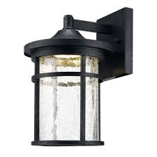 home decorators collection aged iron outdoor led wall lantern with le glass