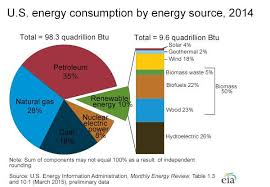 Us Energy Consumption Pie Chart Pie Chart Showing Sources Of Electricity In The U S In 2014