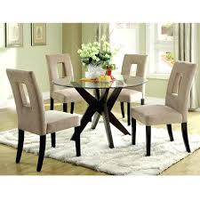 stylish inch round glass top dining table home inspirations set decor and chairs 4 india
