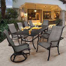 outdoor dining table and chairs. Saratoga 11-piece Sling Patio Dining Collection Outdoor Dining Table And Chairs