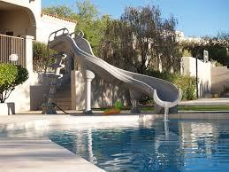 In ground pools with slides Custom Royal Swimming Pools Interfab Adrenaline Pool Slide Royal Swimming Pools