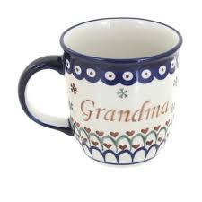Earthenware mugs | grey fox pottery. Blue Rose Polish Pottery Grandma Coffee Mug Target