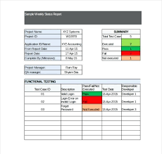 weekly report format in excel free download status report template excel free download project status report