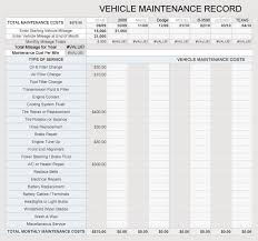 Free Vehicle Maintenance Log Service Sheet Templates For