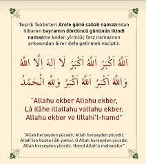 1- Arefe gününün sabah namazının... - Gümüşler Yunus Emre Camii