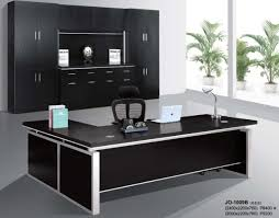 black office table. Product Thumnail Image Zoom. Modern Hi_class Black Office Table C