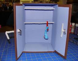 doll furniture recycled materials. DIY Recycled Material Doll Closet Furniture Materials O