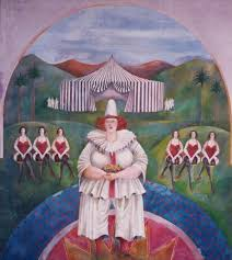 elizabeth taggart circus lady oil on canvas private collection new orleans