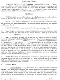 Loan Agreement Forms 24 Free Loan Agreement Templates [Word PDF] Template Lab 14