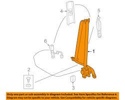 toyota oem 09 10 corolla front seat belt buckle retractor left 7322002320b0