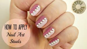 How To Apply Nail Art Studs! DIY (3 easy methods) - YouTube