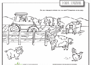 List of free printable resources to accompany our farm thematic unit for preschool, kindergarten, grade 1 and grade 2. Farm Coloring Pages Printables Education Com