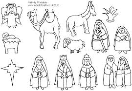 Christmas Nativity Coloring Sheets Printable Nativity Color Pages