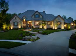 outdoor lighting welcomes you home at night