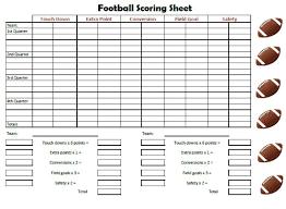 Football Score Sheet How You Can Attend Football Score