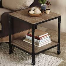 chic industrial furniture. Furniture, Wood Industrial Furniture Storage Design With Black Metal Leg And Wheels Plus Bookshelf Beside Chic