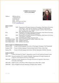 grad school application resume samples graduate curriculum vitae sample  high format academic template
