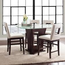 led glass dining table lovely soho dining collection counter height