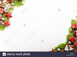 Top View Of Christmas Background Template With Decorations