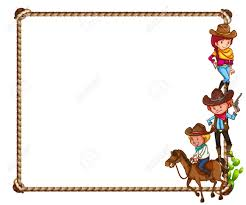 cowboy border stock vector ilration and royalty free cowboy jpg 1300x1082 western themed page borders and