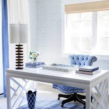 blue home office. Blue Home Office With Bungalow 5 Bell Desk, Periwinkle Accent, Pantone Little Boy