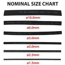 4 Inch Pre Cut Heat Shrink Sleeve Tubing Assorted Size Set 2 1 160pcs Black