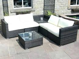rattan furniture covers. Black Garden Furniture Covers Corner Outdoor Sofa Rattan Set  With Table . R