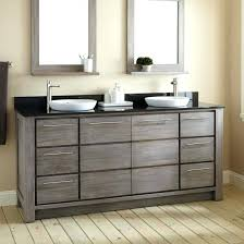 rustic bathroom double vanities. Fine Rustic Rustic Double Sink Vanity Bathroom Some Drawers  Brown Laminated Wood White Ceramic   On Rustic Bathroom Double Vanities