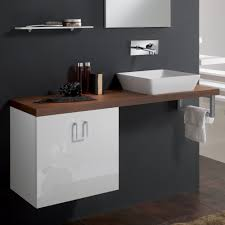 Bathroom High Cabinet Veneered Walnut High End Bathroom Sink Vanity Stand