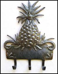 metal wall hook pineapple design haiti metal art