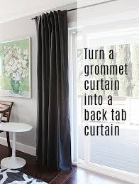 lovely back tab curtains and how to turn a grommet top curtain into a back tab