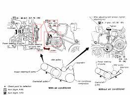 1997 nissan altima belt diagram vehiclepad 2001 nissan altima 1997 nissan maxima alternator belt tensioner tight serpentine belt