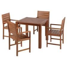 hampton wooden 4 seater patio set