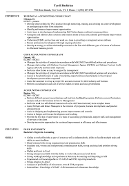 Consulting Resume Templates Accounting Consultant Resume Samples Velvet Jobs
