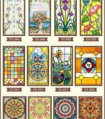 stained glass window new styles custom electrostatic frosted stained glass window self adhesive window stained glass