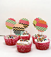 Washi Tape Washi Tape Cupcake Toppers Think Crafts By Createforless