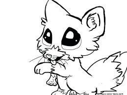 Animal Printable Coloring Pages Cute Little Animal Free Printable